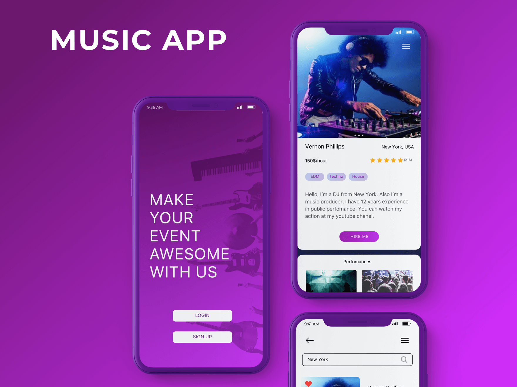 Music Marketplace, Booking App | 2muchcoffee