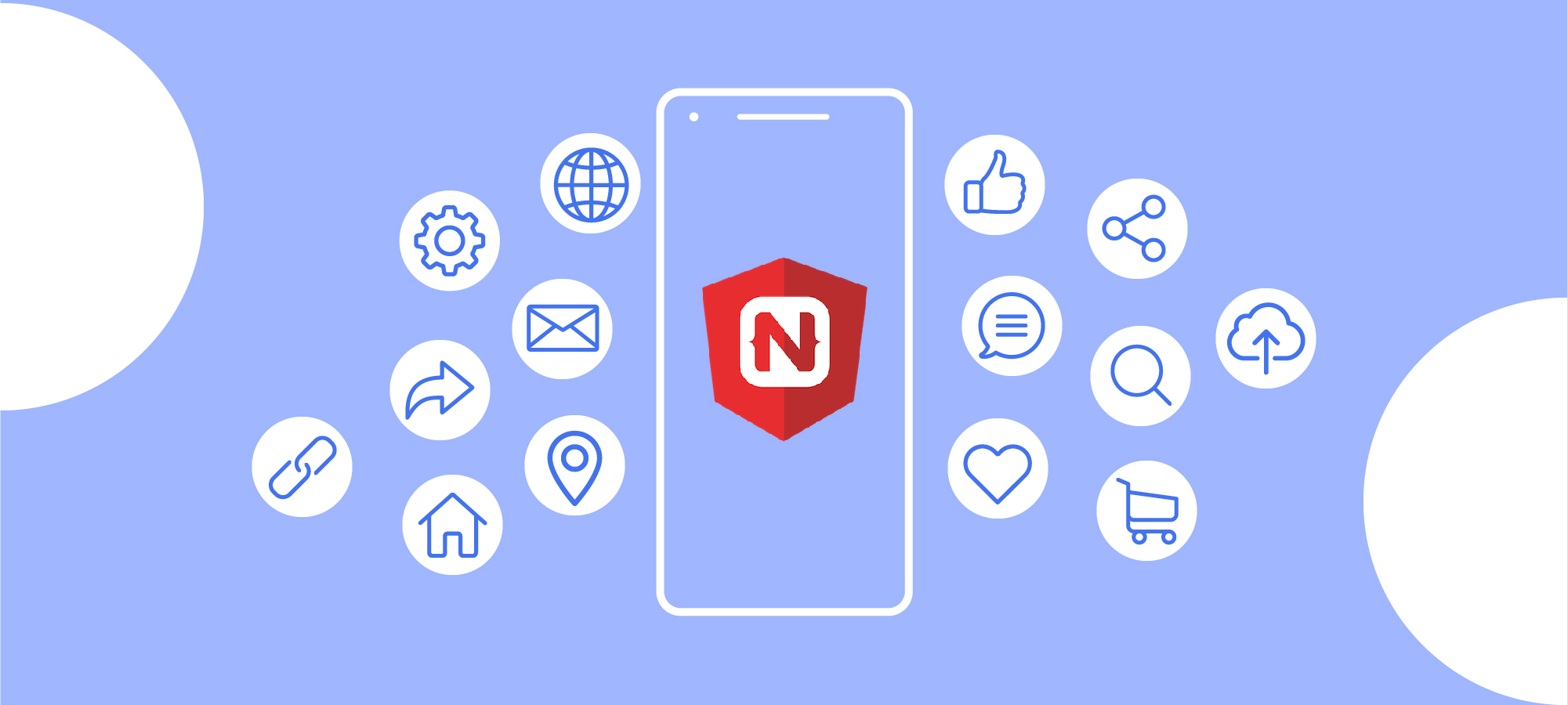 Illustration Native Android and iOS apps with NativeScript and Angular 6