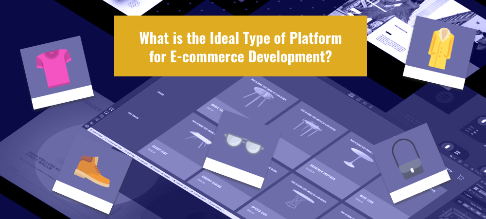Illustration What is the Ideal Type of Platform for E-commerce Development