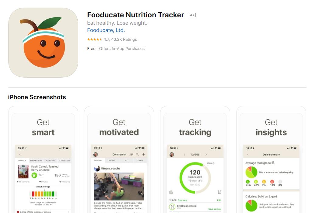 Fooducate_Nurtirion_Tracker