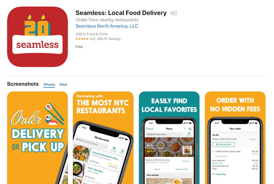 Seamless_Local_Food_Delivery