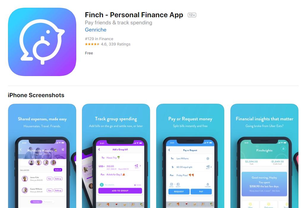 Finch_Personal_Finance_App