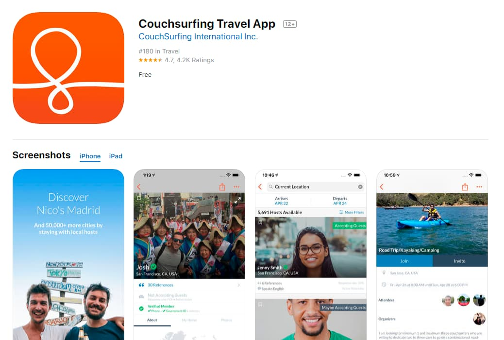 Couchsurfing_Travel_App