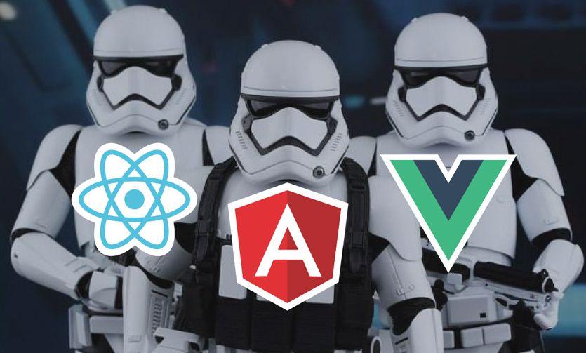 Angular 2+ vs ReactJS vs Vue.js - which Javascript framework used for web application development is the best