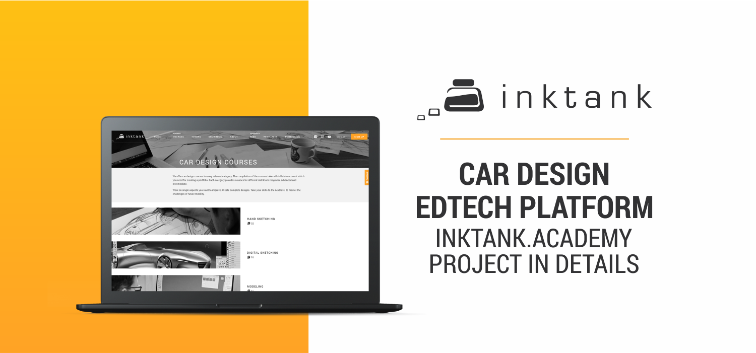 Car Design EdTech Platform - inktank.academy | Project in Details
